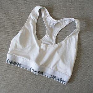 White Calvin Klein Bra